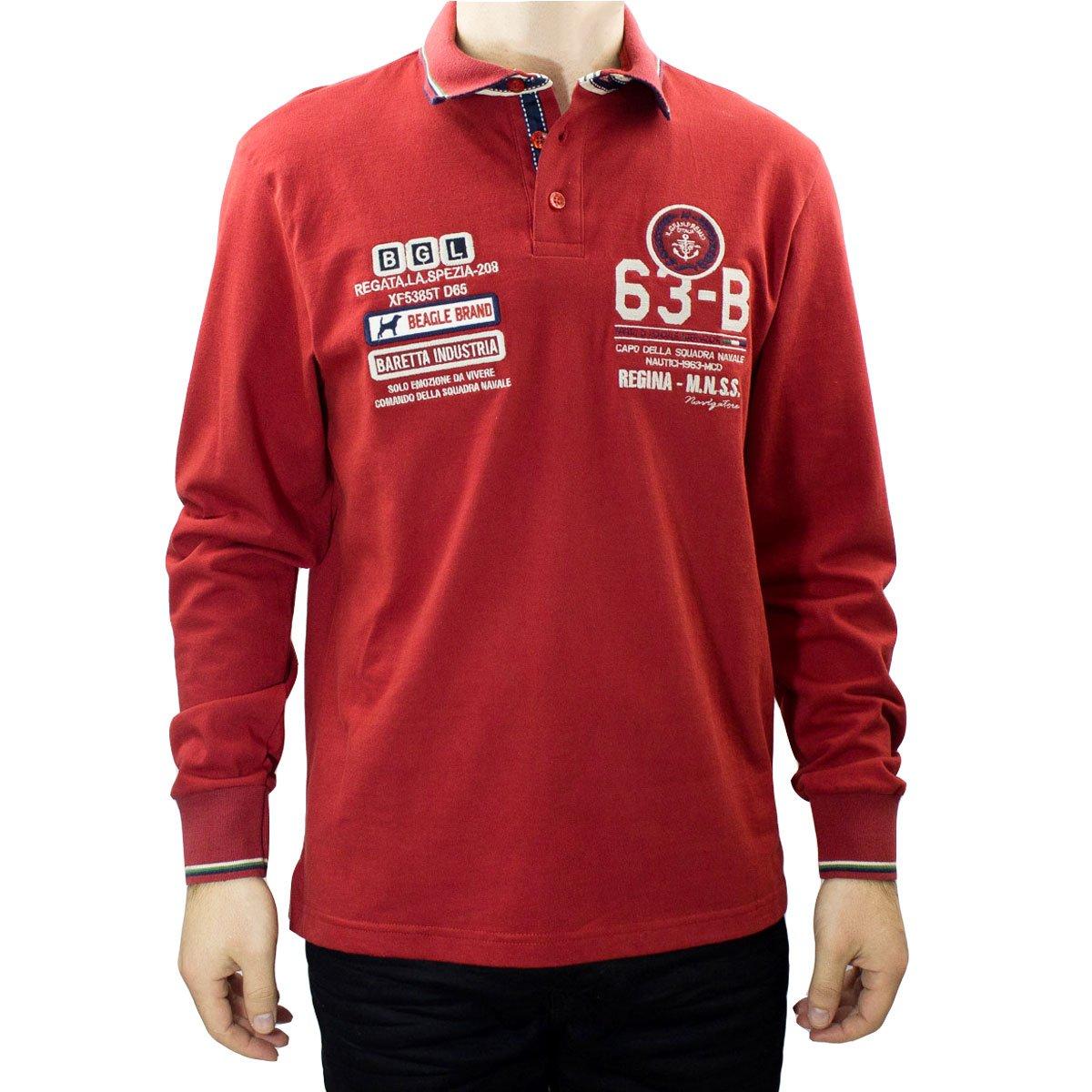 Imagem - Camisa Polo Masculina Beagle Manga Longa 026165 - 029682 889797c86cc8f