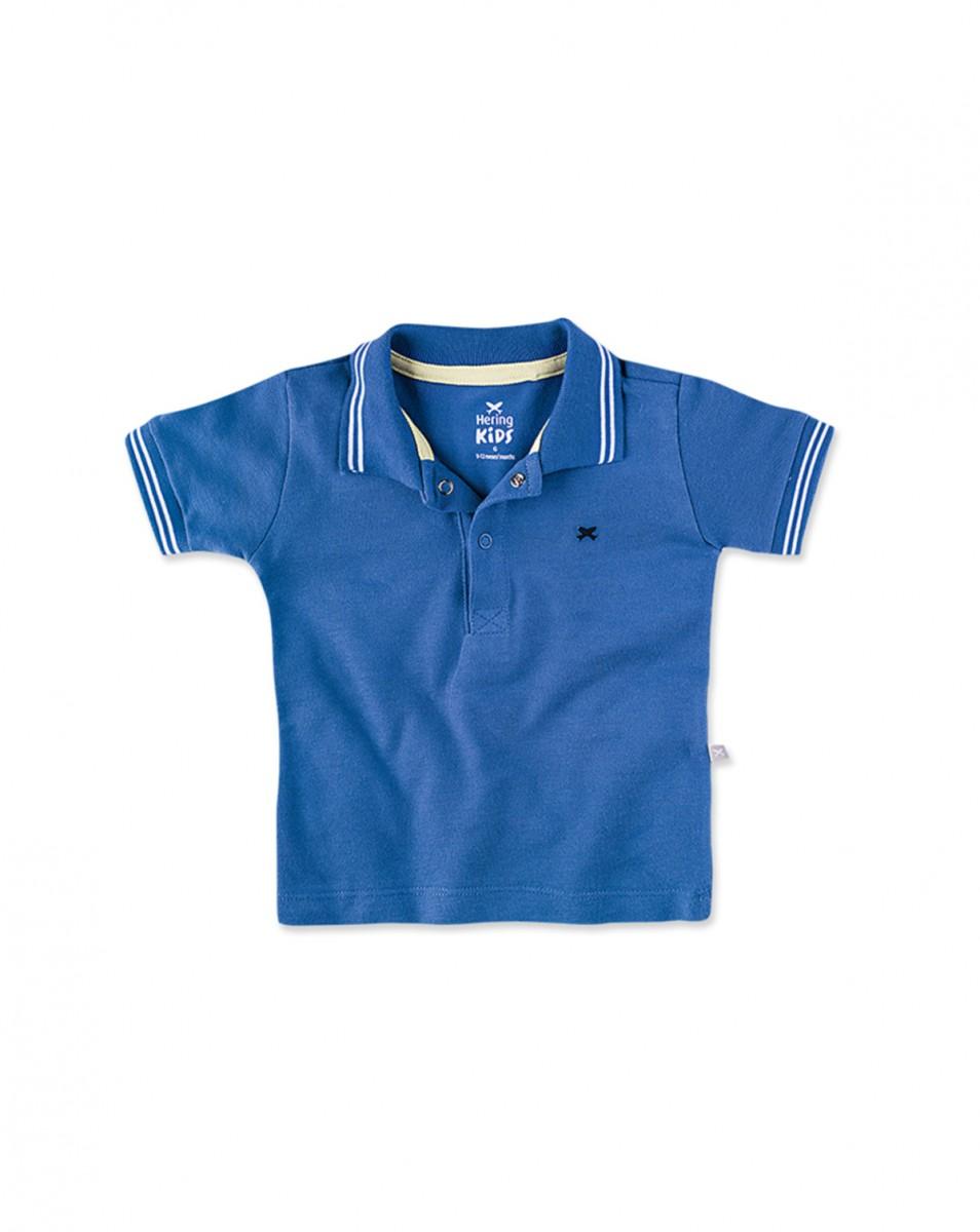 33deef3d1ab Bizz Store - Camisa Polo Infantil Bebê Menino Azul Manga Curta