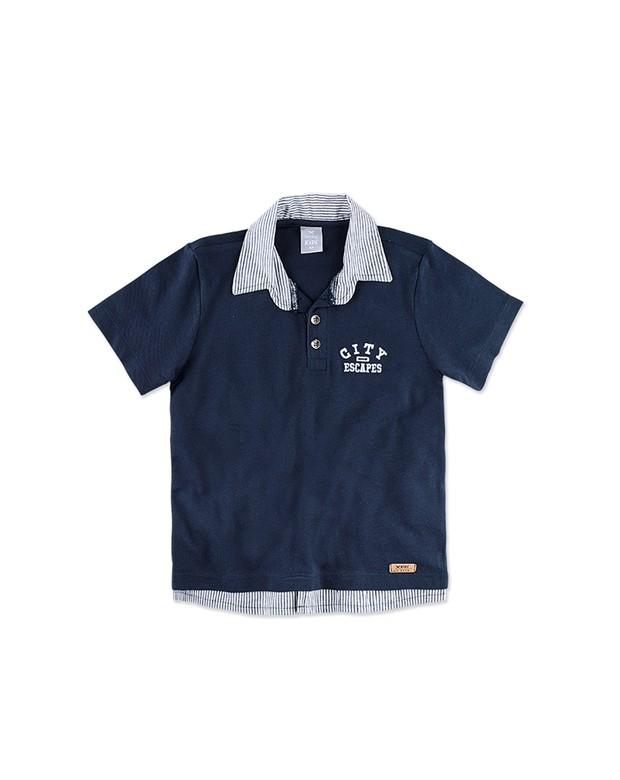 60eb5de3311cd Bizz Store - Camisa Polo Infantil Masculina Hering Kids Marinho