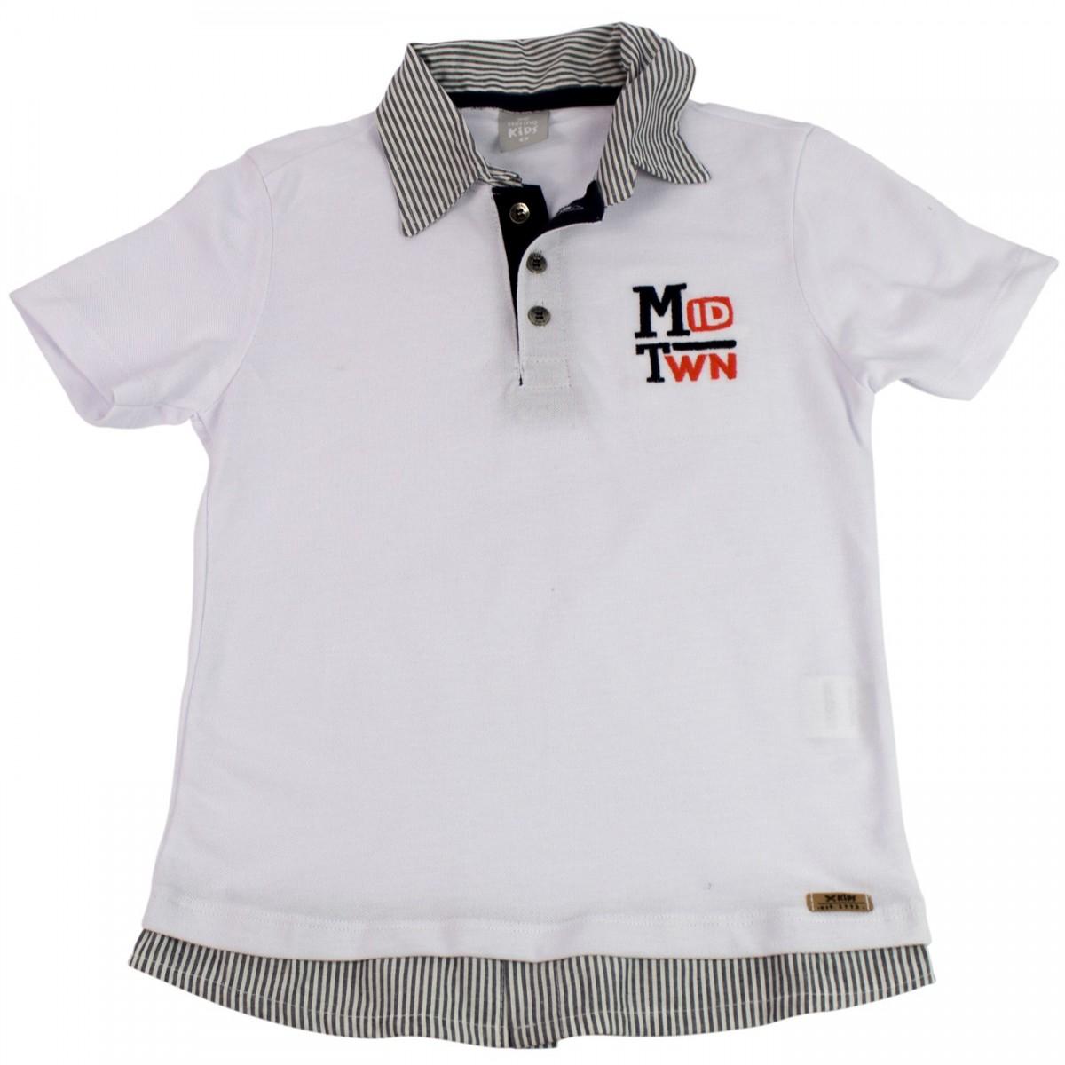 465762d4d6 Bizz Store - Camisa Polo Infantil Masculina Hering Kids Marinho