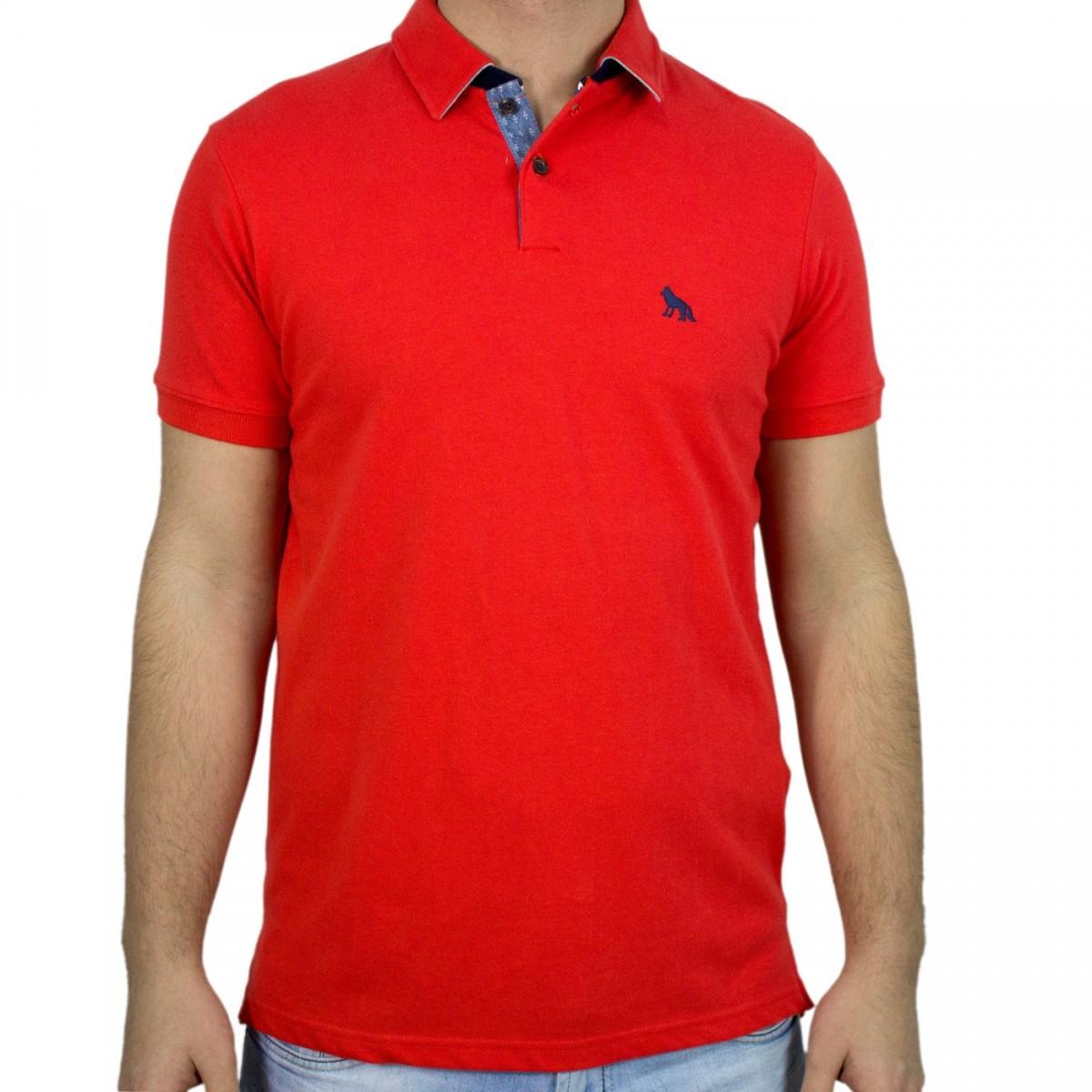 cd33d2ab35 Bizz Store - Camisa Polo Masculina Acostamento Manga Curta