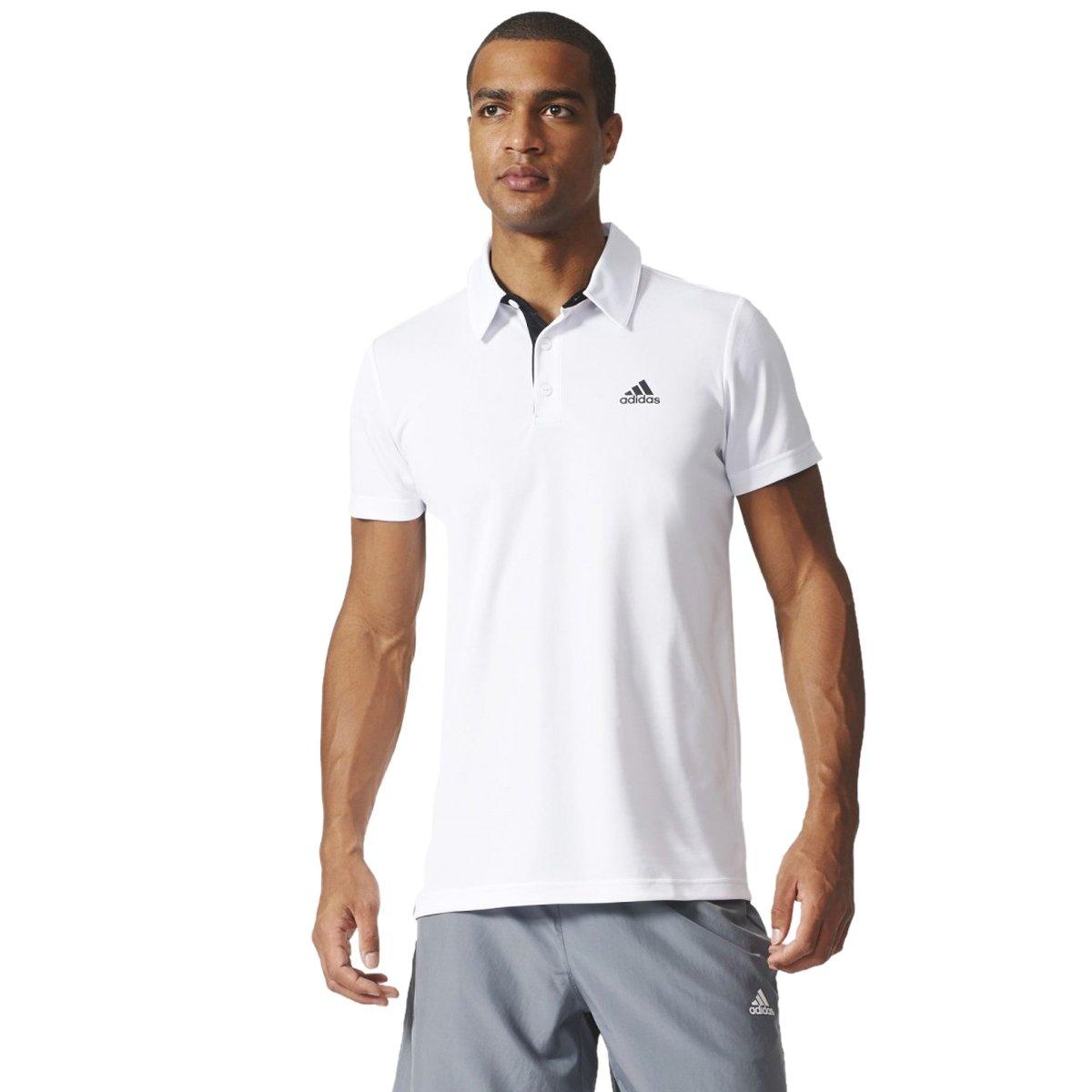 Bizz Store - Camisa Polo Masculina Adidas Fab Tennis Branca c002b75f8aac7