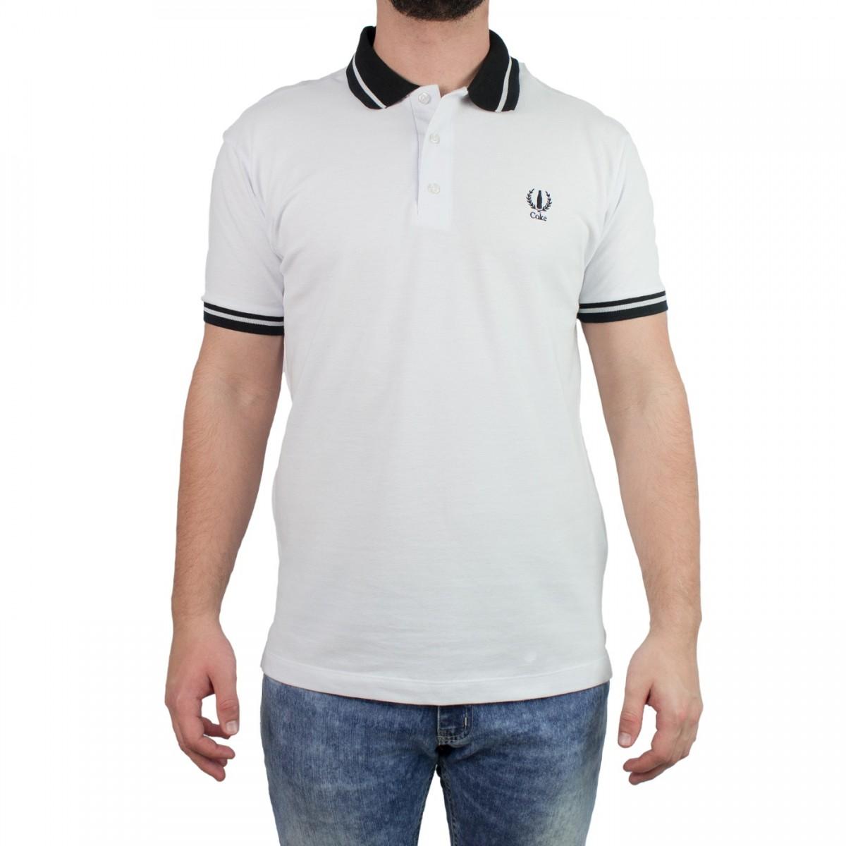 Bizz Store - Camisa Polo Masculina Coca-Cola Branca Manga Curta 68d118a640d3d