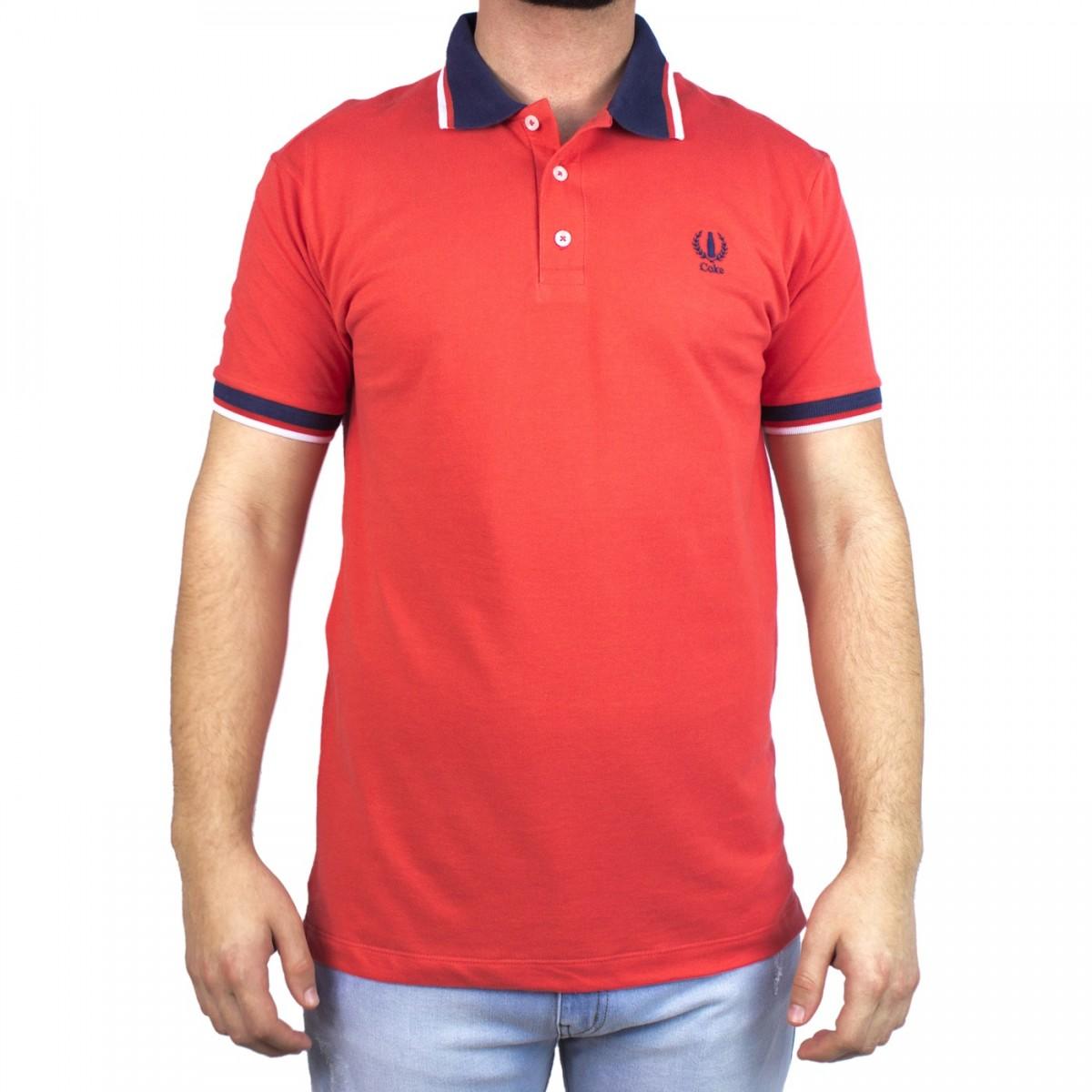 Bizz store camisa polo masculina coca cola manga curta vermelha jpg  1200x1200 Camiseta polo vermelho cff5e6c1984c6