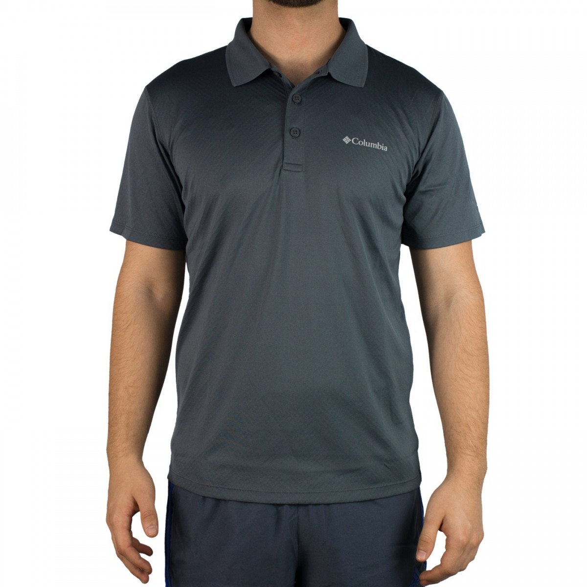 358803167 Bizz Store - Camisa Polo Masculina Columbia Zero Rules Preta Cinza