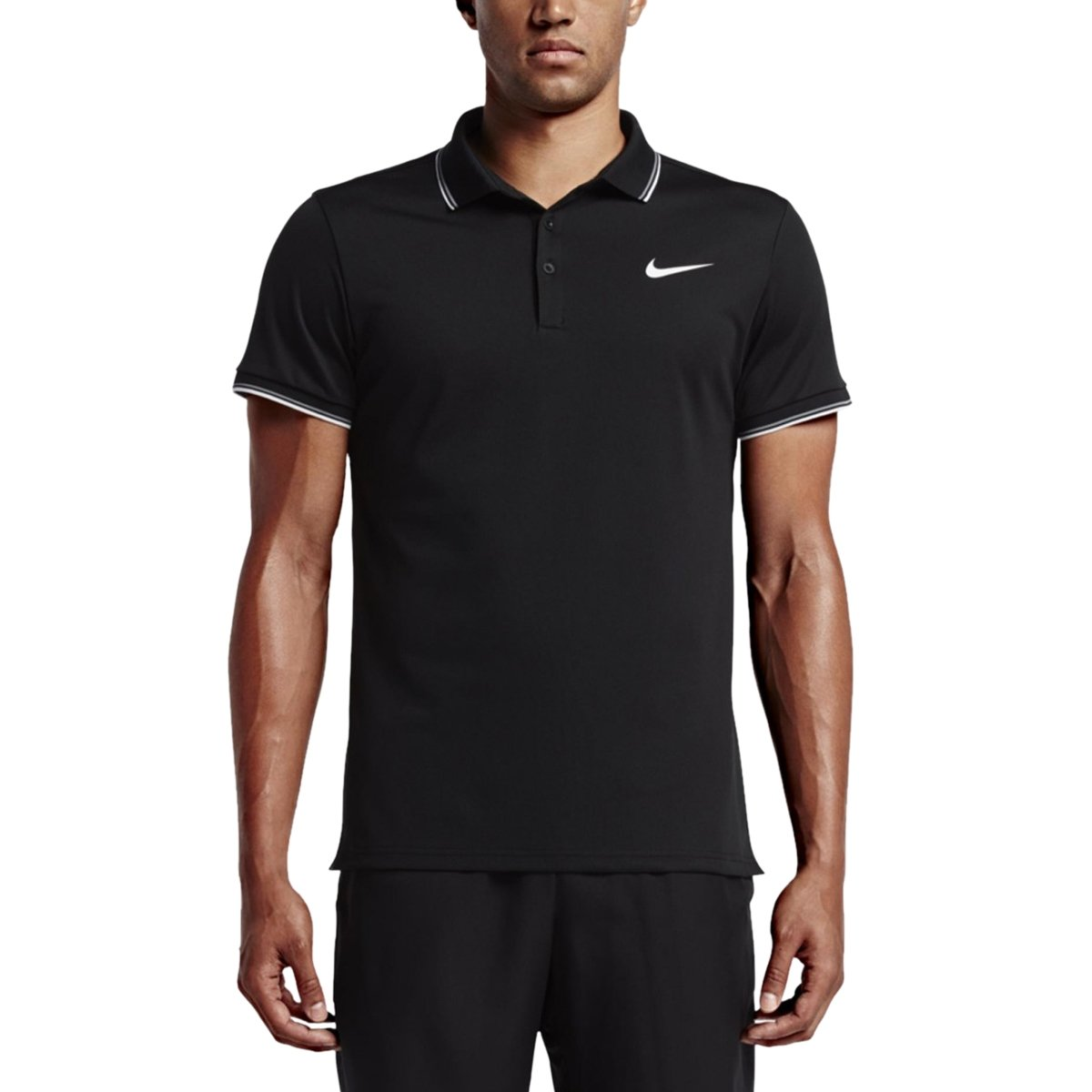64e40bfdf1 Bizz Store - Camisa Polo Masculina Nike Court Manga Curta Preta