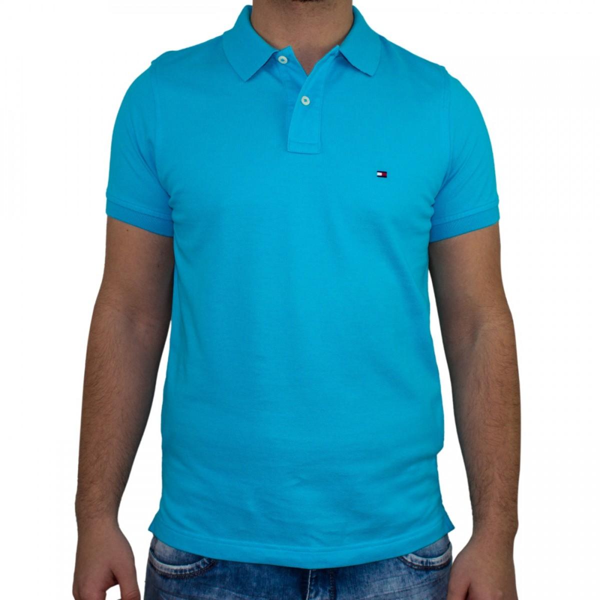 Bizz Store - Camisa Polo Masculina Tommy Hilfiger Slim Manga Curta 8d9616d6cebf4