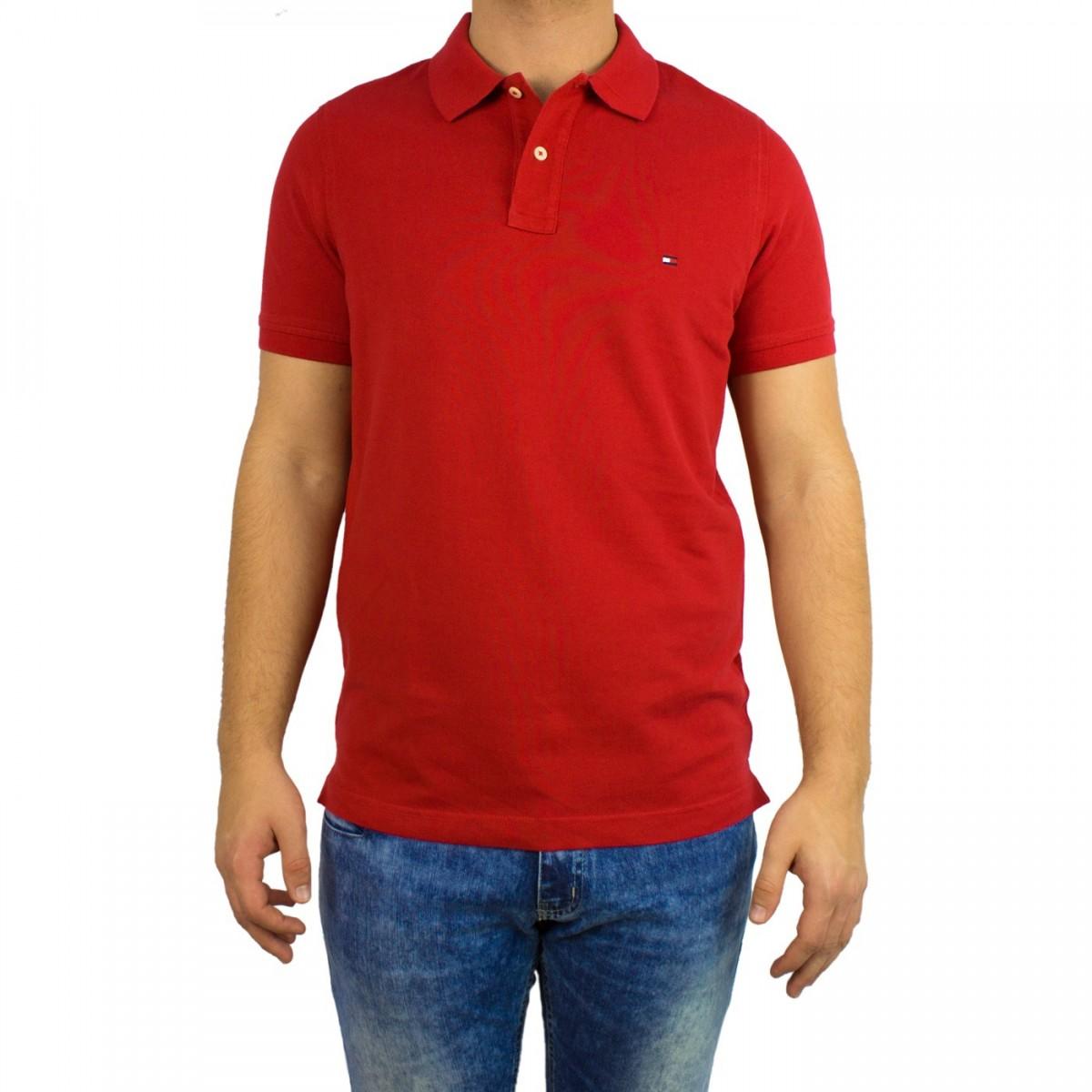 65d68c73c Bizz Store - Camisa Polo Masculina Tommy Hilfiger Slim Fit