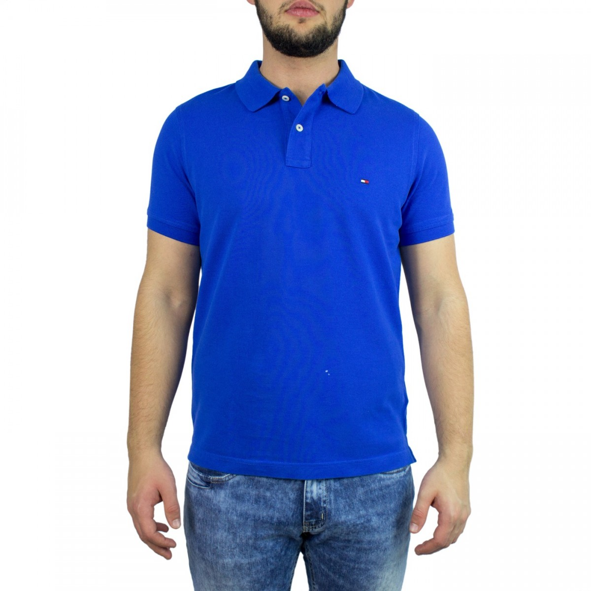 Bizz Store - Camisa Polo Masculina Tommy Hilfiger Slim Fit 06fe391f520ba