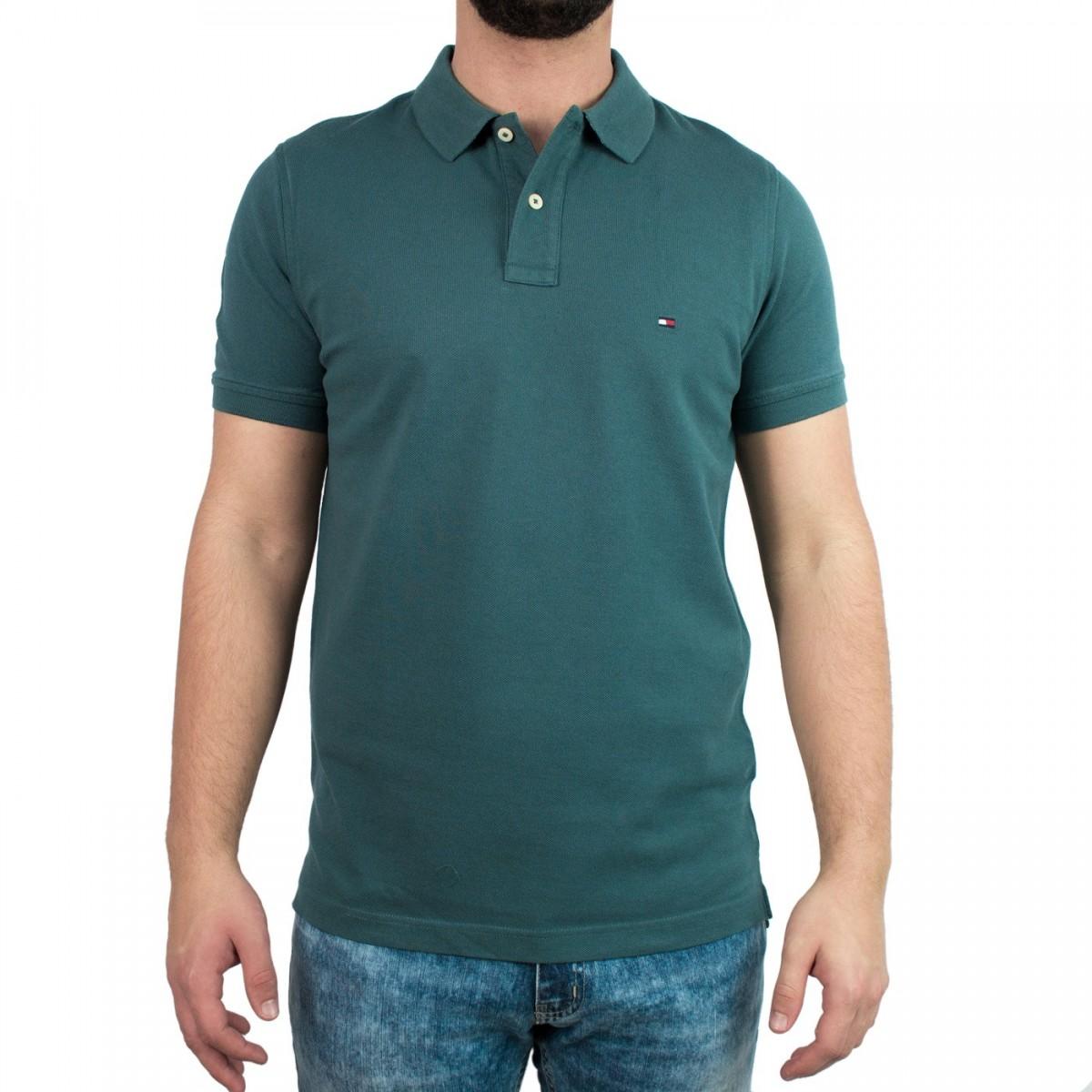 Bizz Store - Camisa Polo Masculina Tommy Hilfiger Slim Fit c517949f194d5