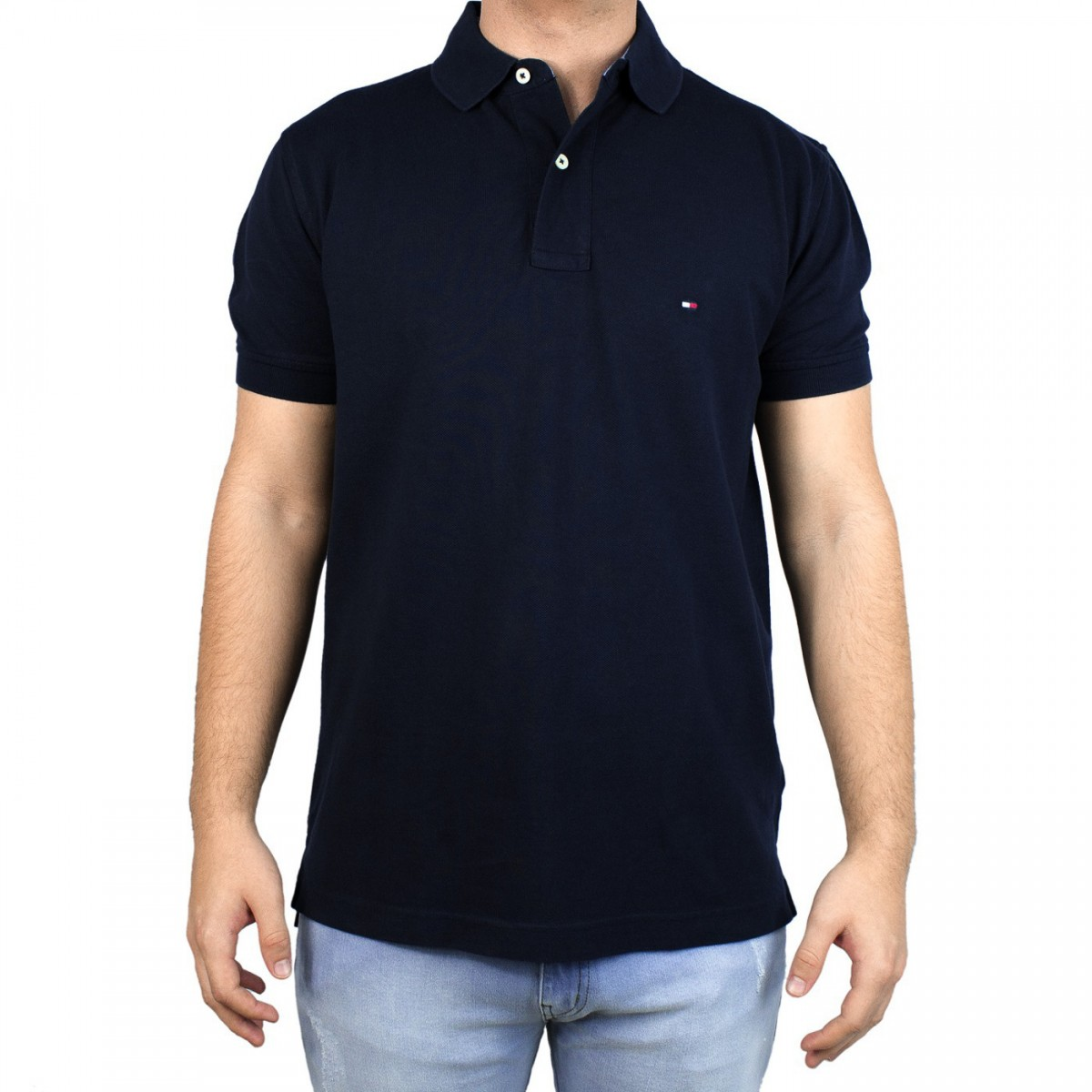 Bizz Store - Camisa Polo Masculina Tommy Hilfiger Manga Curta e90fc0a24dd6e