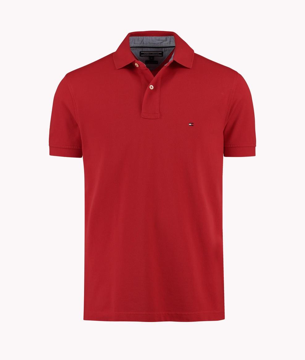 9affaab758c37 Bizz Store - Camisa Polo Masculina Tommy Hilfiger Branca Vermelha