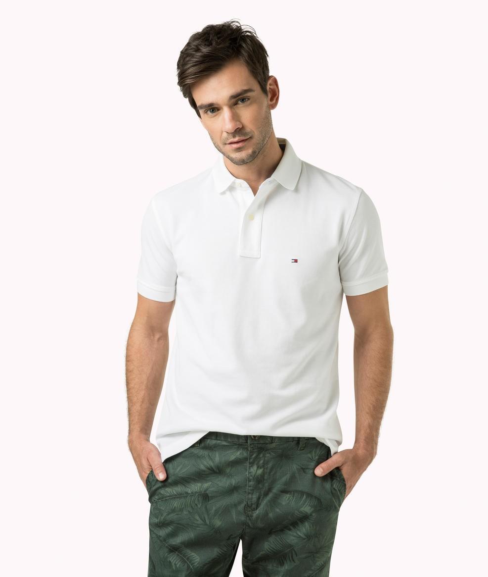 c98c21b4f Bizz Store - Camisa Polo Masculina Tommy Hilfiger Branca Vermelha