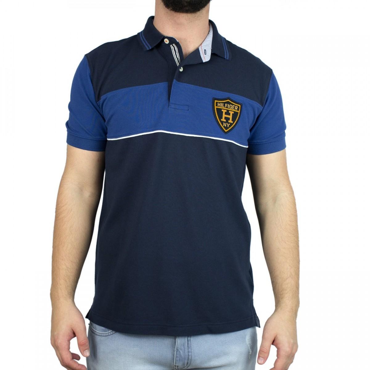 b8ee94b836bd8 Bizz Store - Camisa Polo Masculina Tommy Hilfiger Estampada