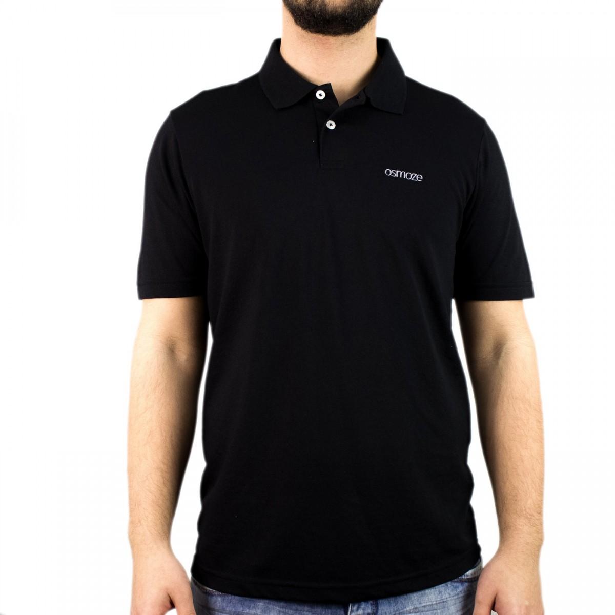 c35323b96c Bizz Store - Camisa Polo Masculina Osmoze Manga Curta Preta