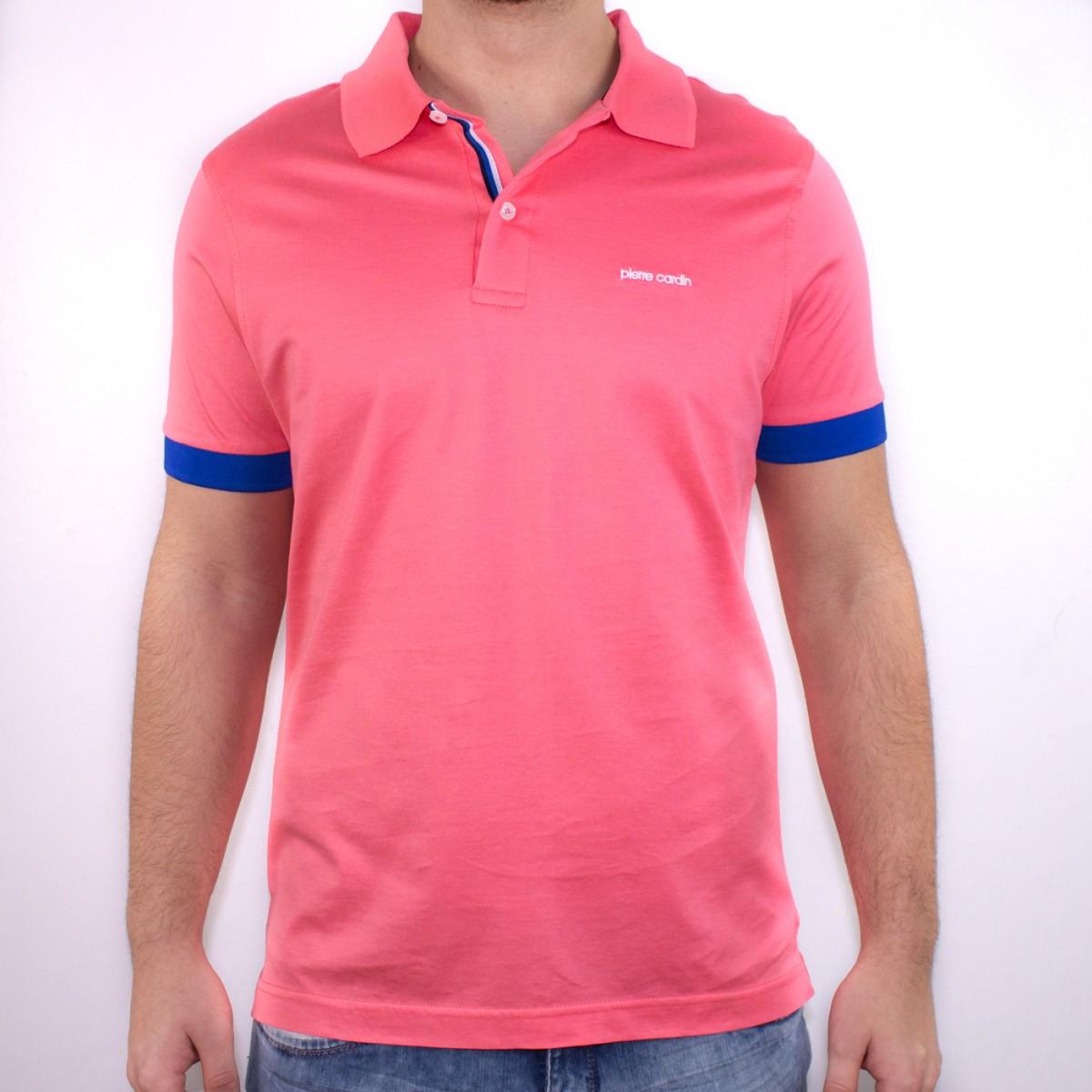 e33a3ce98b Bizz Store - Camisa Polo Masculina Pierre Cardin Marinho Salmão