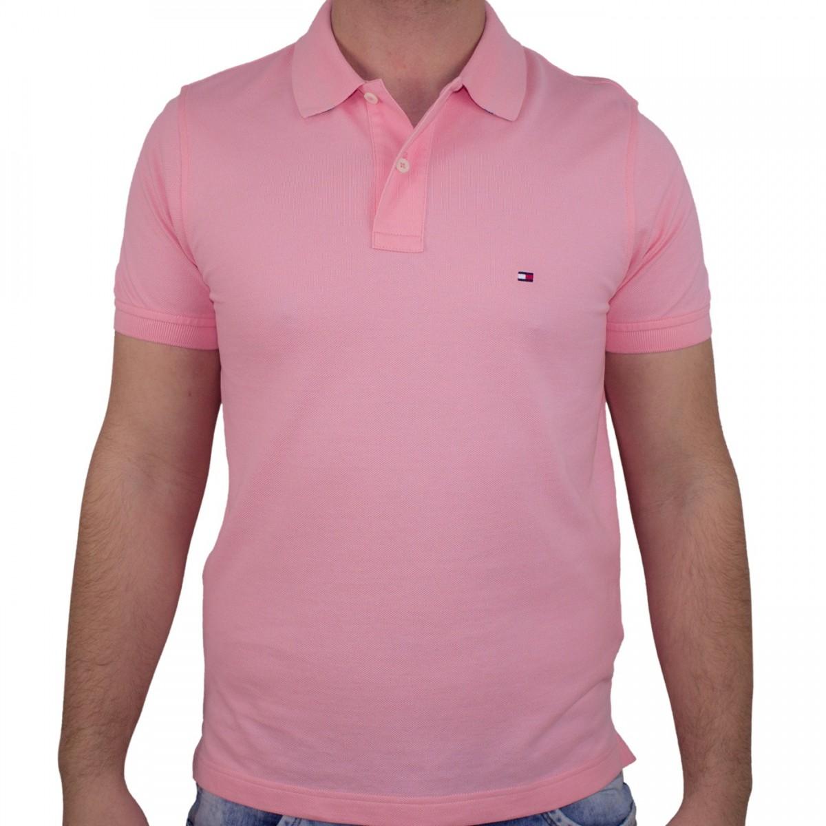 44e21b862 Bizz Store - Camisa Polo Masculina Tommy Hilfiger Slim Manga Curta