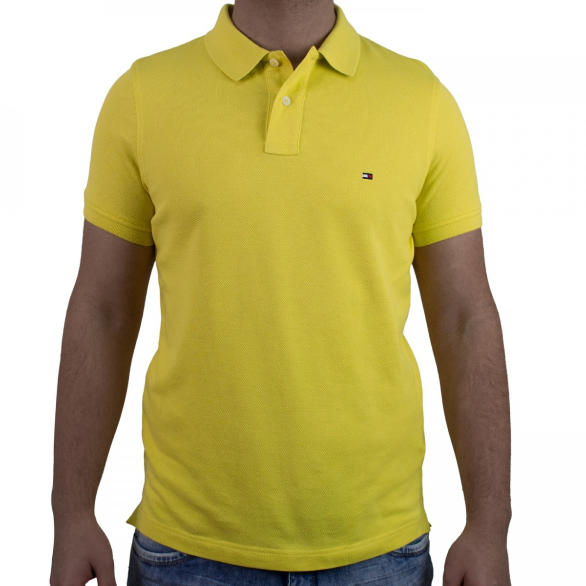bdbb8dd403 Bizz Store - Camisa Polo Masculina Tommy Hilfiger Slim Manga Curta