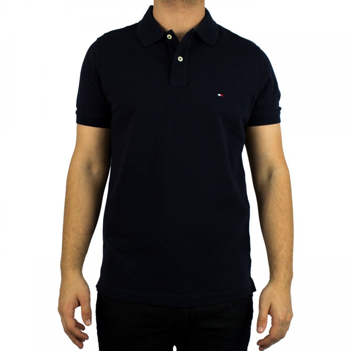 aac311f85 Bizz Store - Camisa Polo Masculina Tommy Hilfiger Marinho