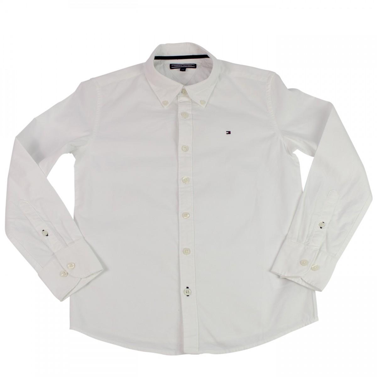 89910a6526 Bizz Store - Camisa Social Infantil Tommy Hilfiger Azul Branca