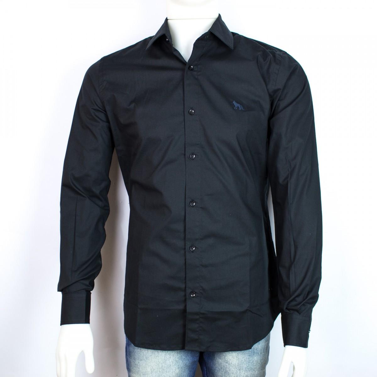 Bizz Store - Camisa Social Masculina Acostamento Branca Classic Fit 49ebc519c7642