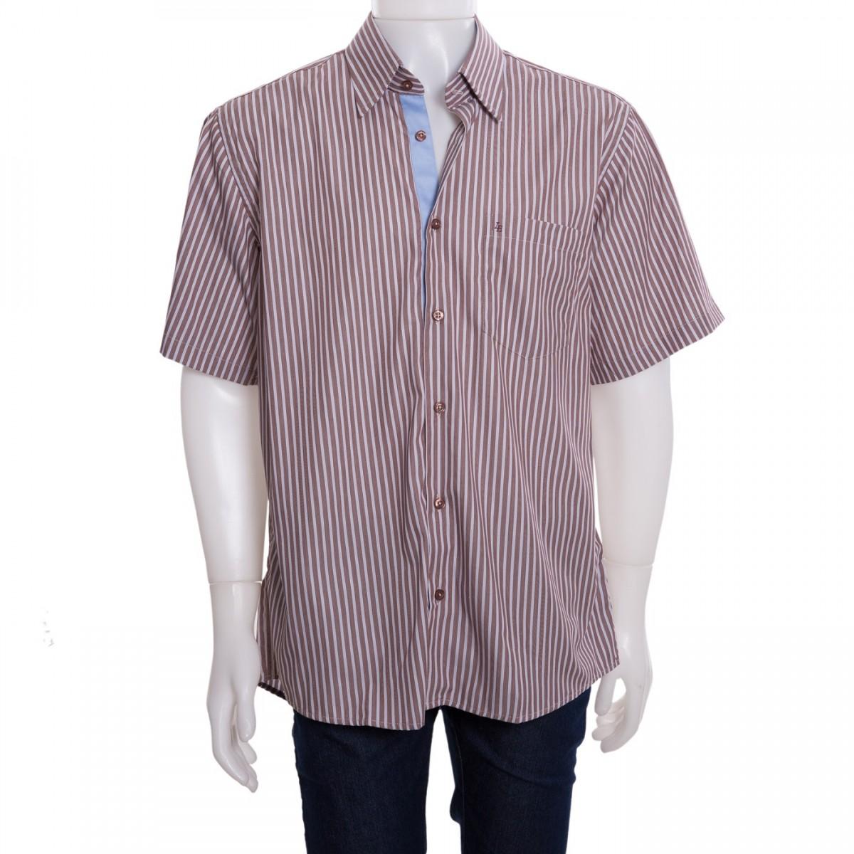 3c2f5ee3a455c Bizz Store - Camisa Social Masculina Luiz Eugenio Fio 100 Listrada