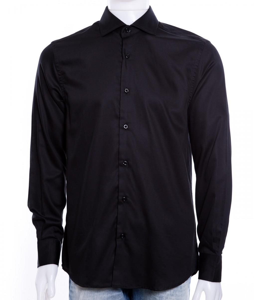 c31e69f02b Bizz Store - Camisa Social Masculina Luiz Eugenio Manga Longa Preta