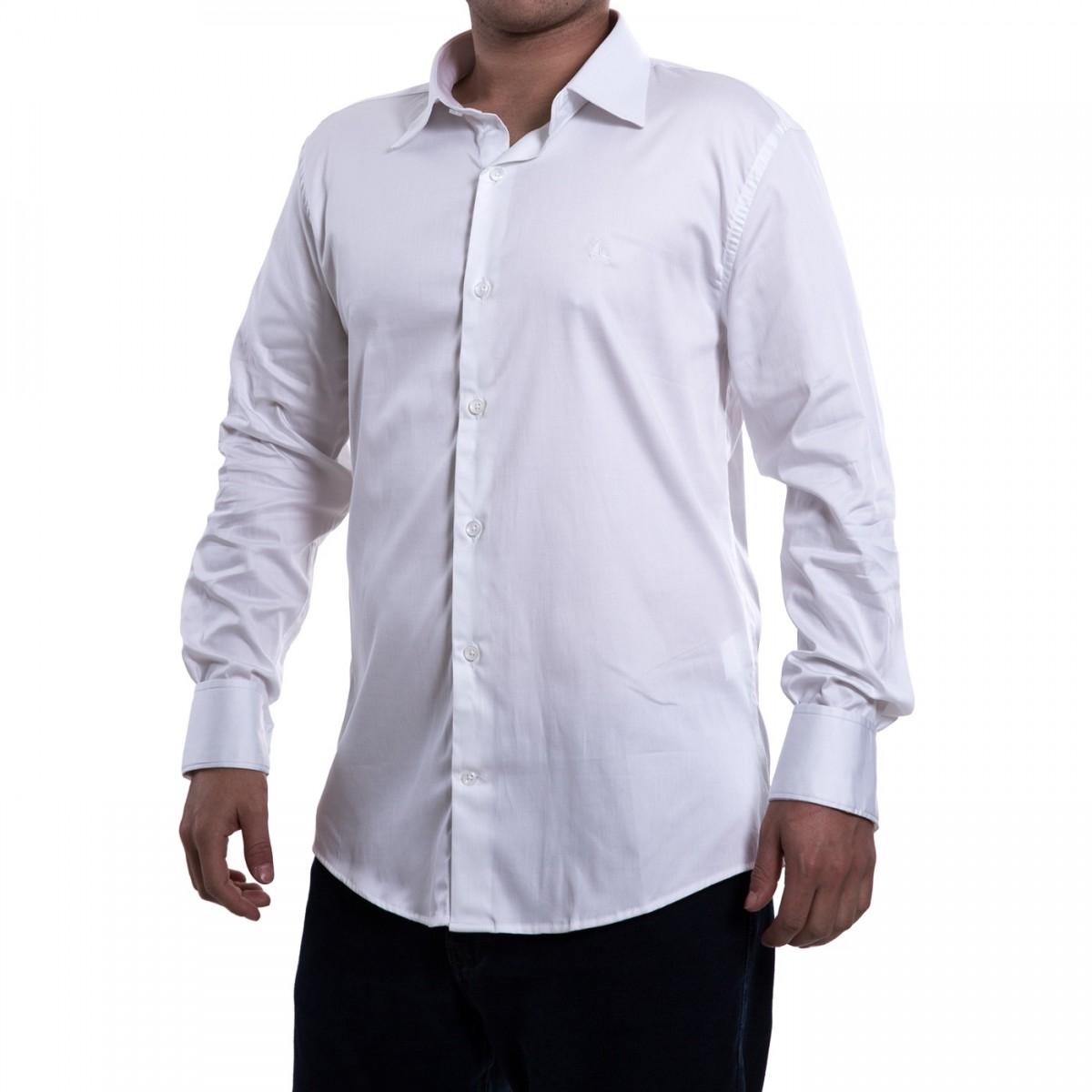 9fbc83b051 Bizz Store - Camisa Social Masculina Porto CO Manga Longa Branca