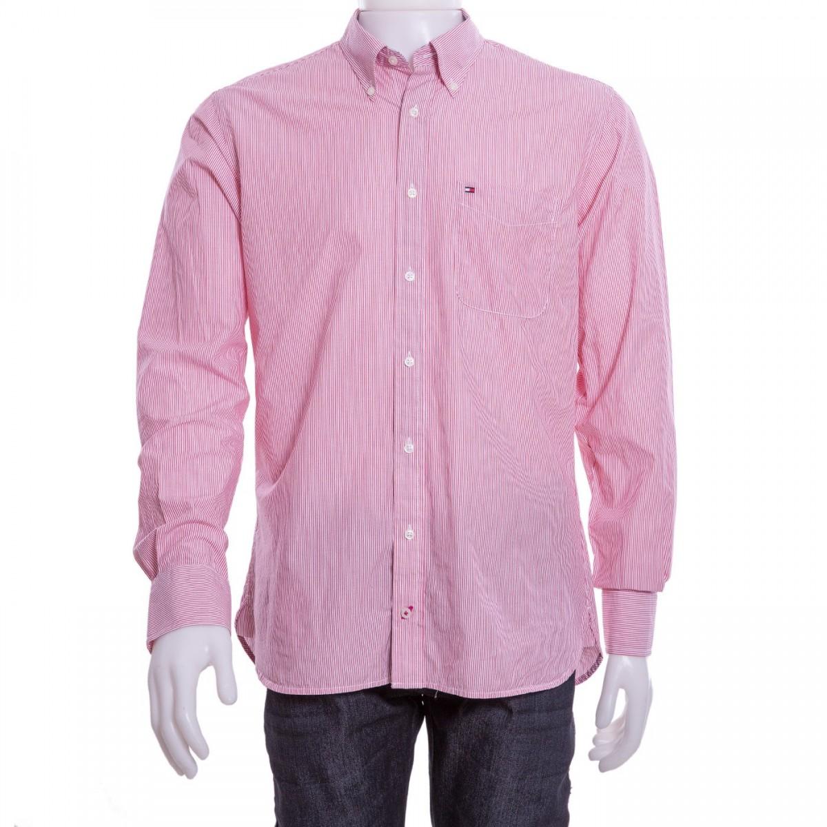 51e007d6abd Bizz Store - Camisa Social Masculina Tommy Hilfiger Manga Longa Fit