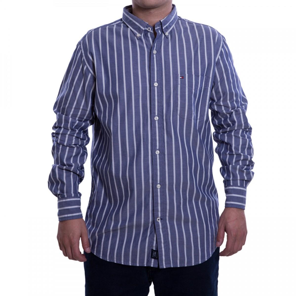 ec480d6e0 Bizz Store - Camisa Social Masculina Tommy Hilfiger Listrada
