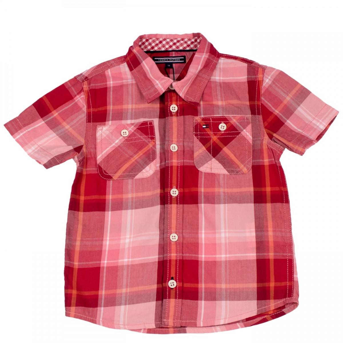 Bizz Store - Camisa Xadrez Infantil Bebê Menino Tommy Hilfiger 94a9e8a96bd87