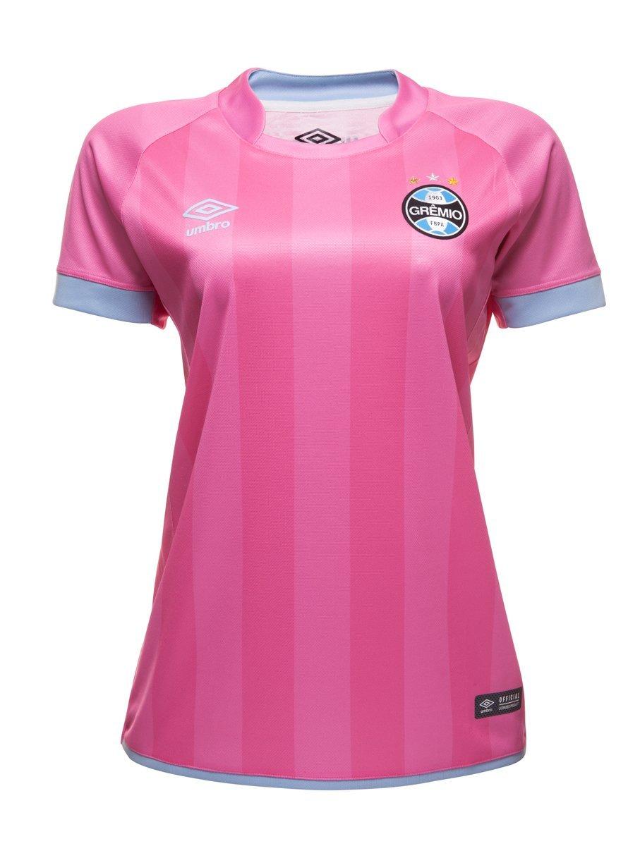 78fb3d5b81 Bizz Store - Camisa Feminina Umbro Grêmio Outubro Rosa Oficial