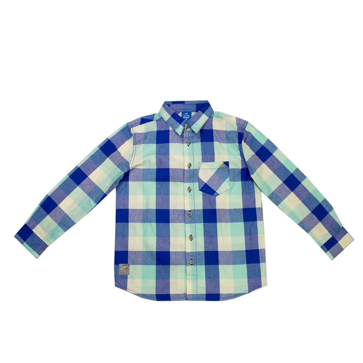 31ce7f7462 Bizz Store - Camisa Xadrez Infantil Menino Hering Kids