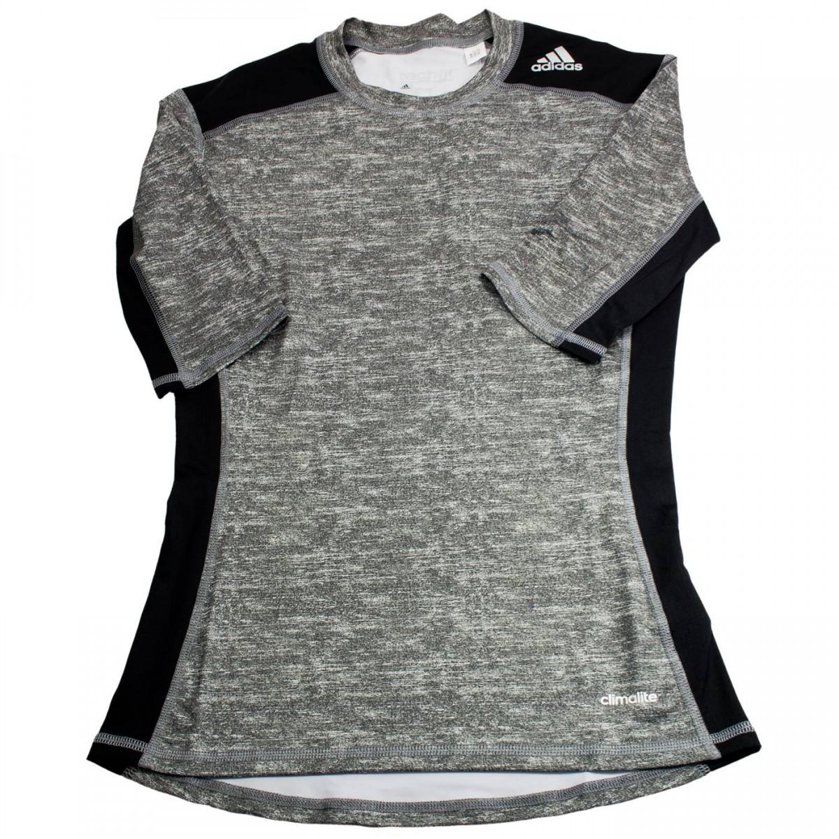 Bizz Store - Camiseta de Compressão Masculina Adidas Techfit Base af5eb07862352