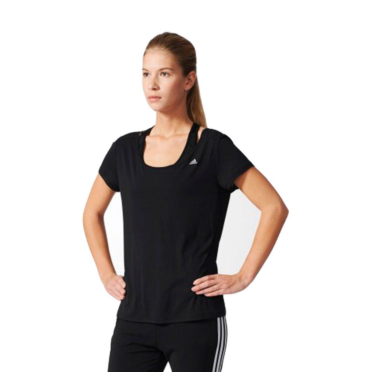 Bizz Store - Camiseta Feminina Adidas ESS Clima LW W Preto f539e4d24ab8a