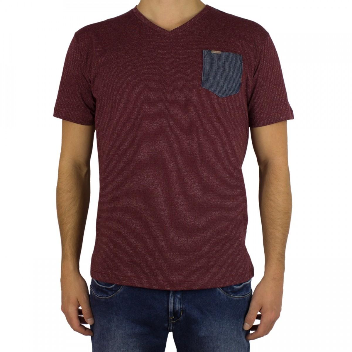 ddd98bbab Bizz Store - Camiseta Masculina Dixie Gola V Bordô Preta