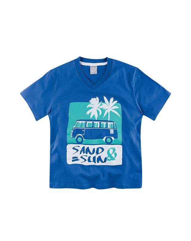 c7c9c16fae43d Bizz Store - Camiseta Infantil Masculina Hering Kids Azul Manga Curta