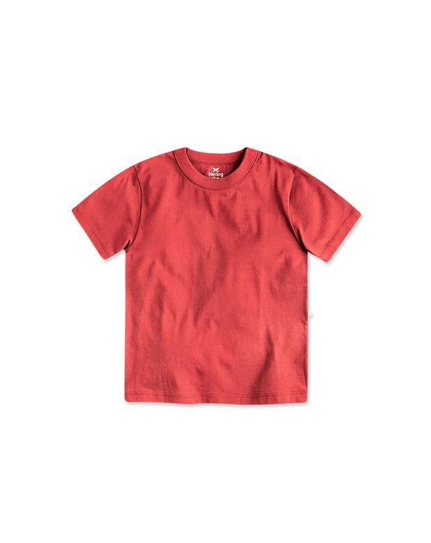 Bizz Store - Camiseta Infantil Masculina Hering Kids Básica Coral 6cfb634bcd80a