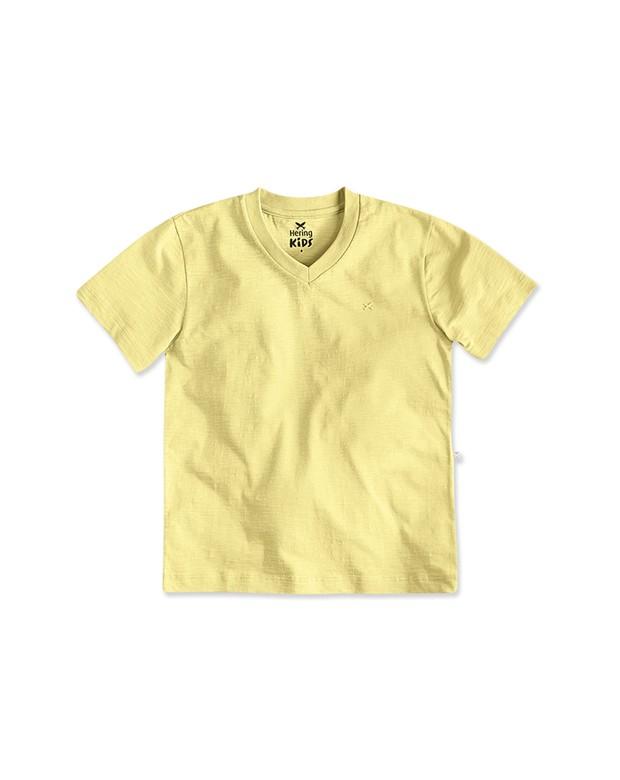 Bizz Store - Camiseta Infantil Masculina Hering Kids Amarela 3689867e5f715