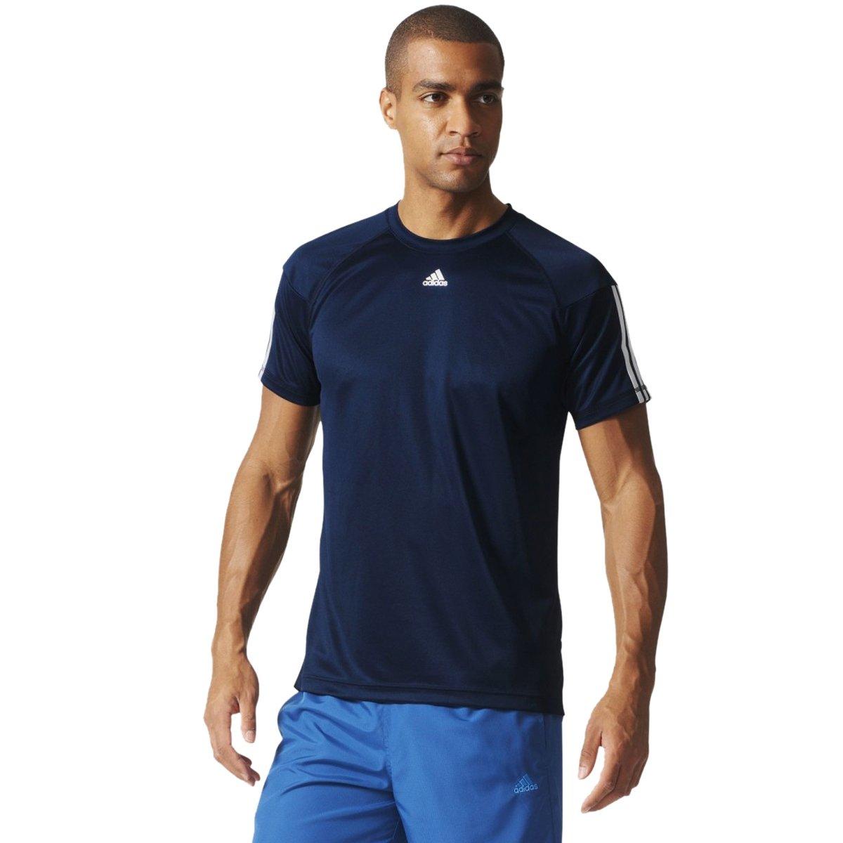 Bizz Store - Camiseta Masculina Adidas Base 3S Azul Manga Curta 4262ad3722a06
