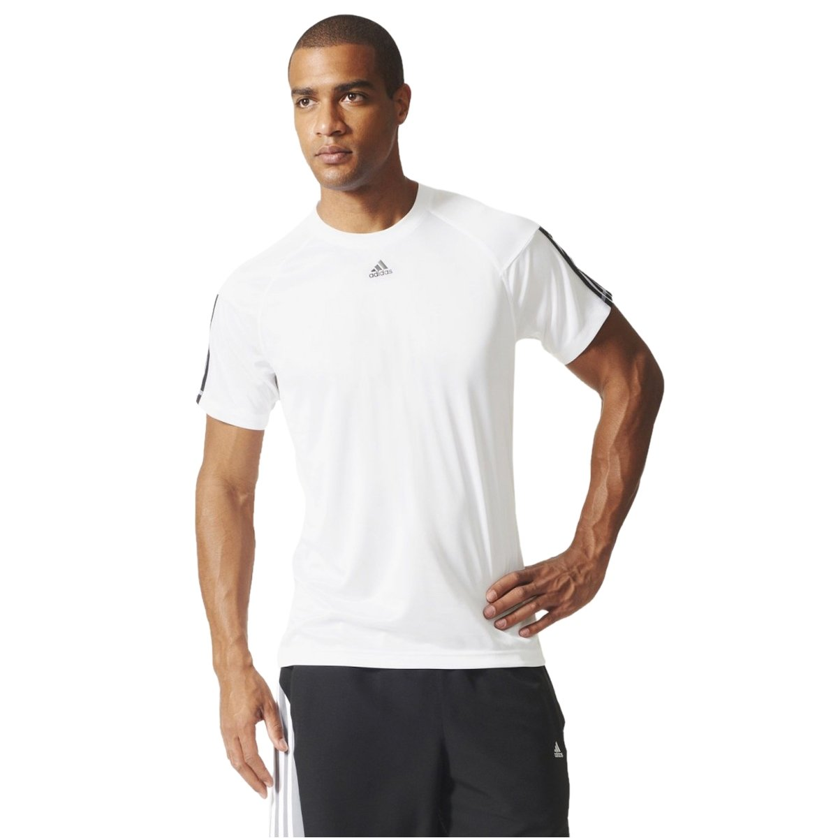 Bizz Store - Camiseta Masculina Adidas Base 3S Branca b94406a936244