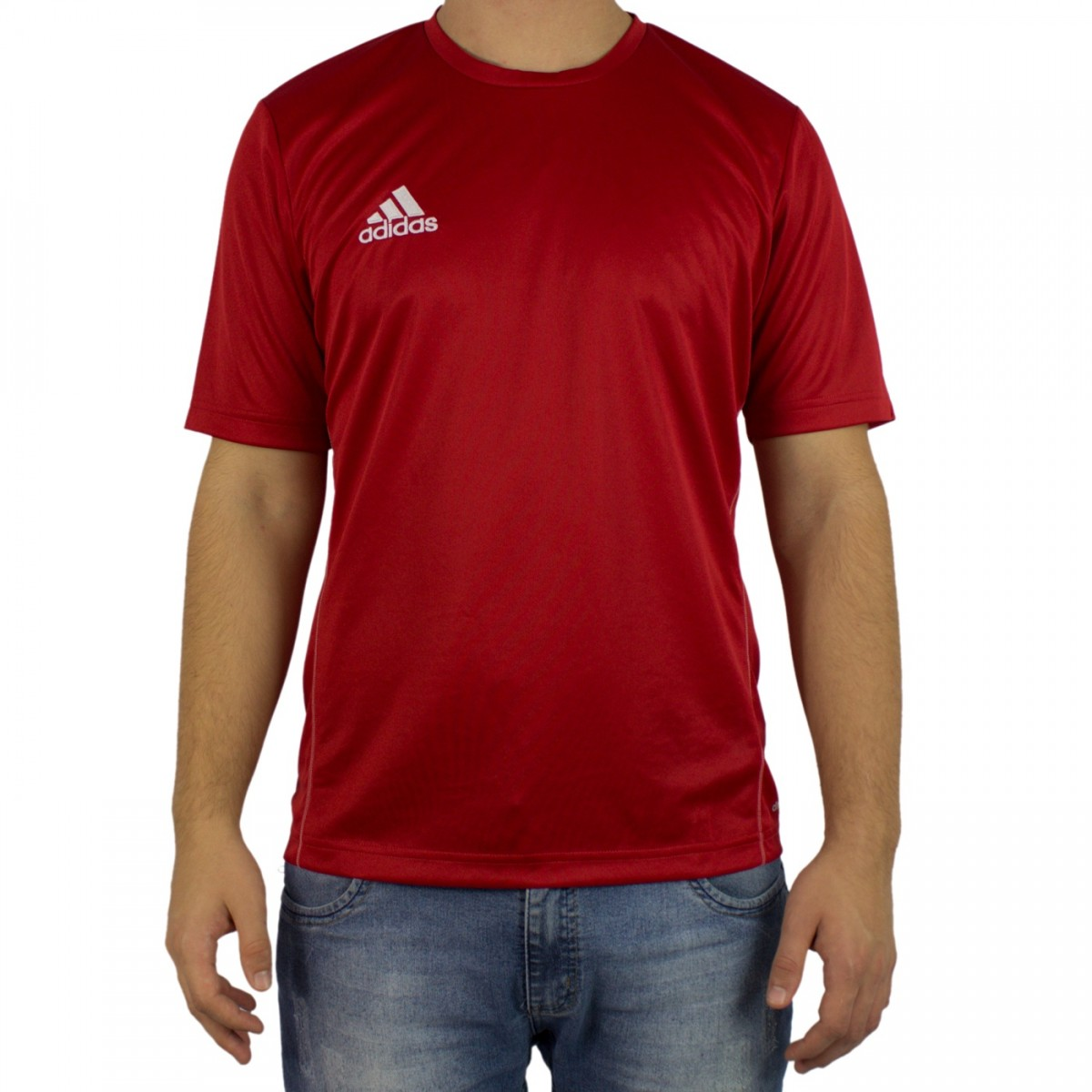 d851dc2505d Bizz Store - Camiseta Masculina Adidas Core 15 Cinza Treino