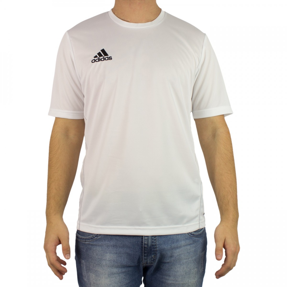 Bizz Store - Camiseta Masculina Adidas Core 15 Cinza Treino a234cf6deeb