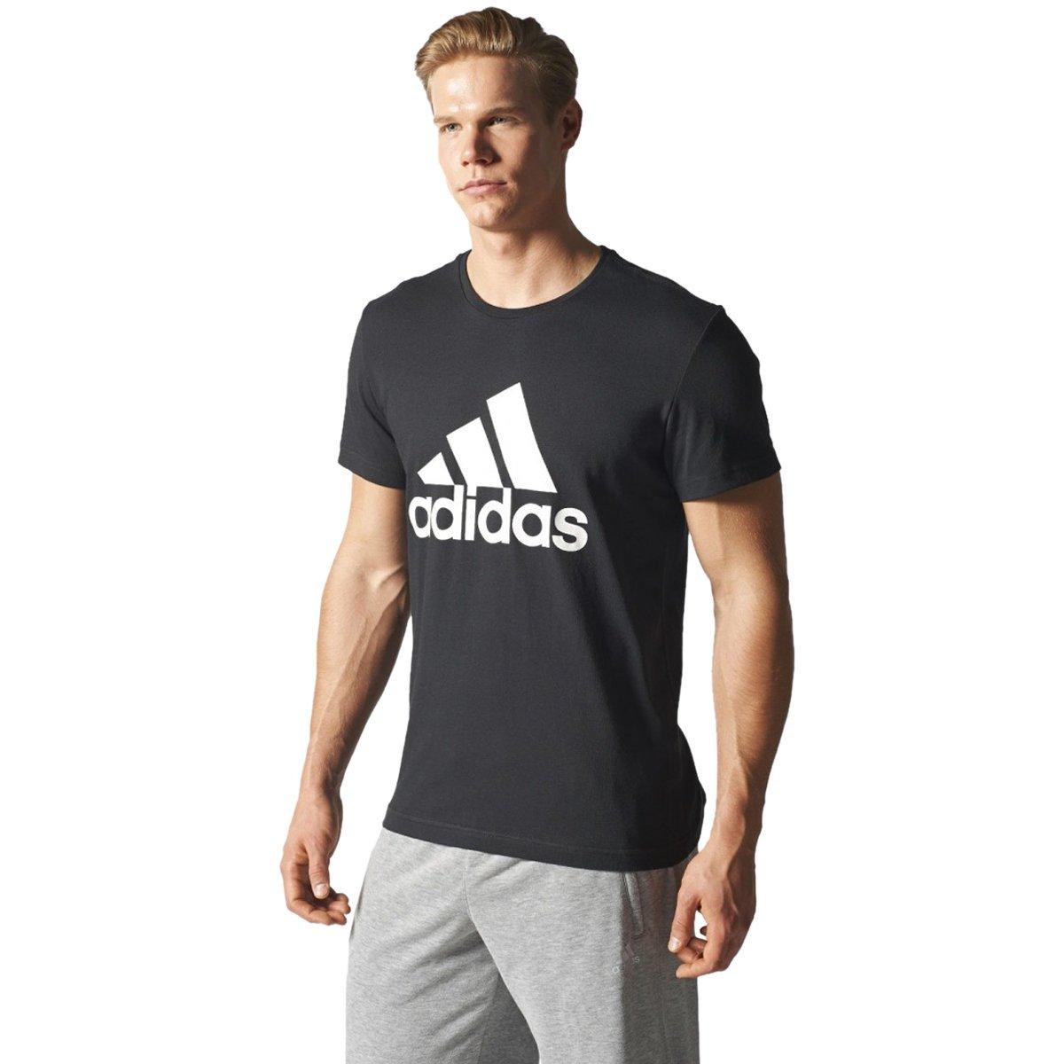 fc434e59bbe0b Bizz Store - Camiseta Masculina Adidas Tech Fit Logo Preta