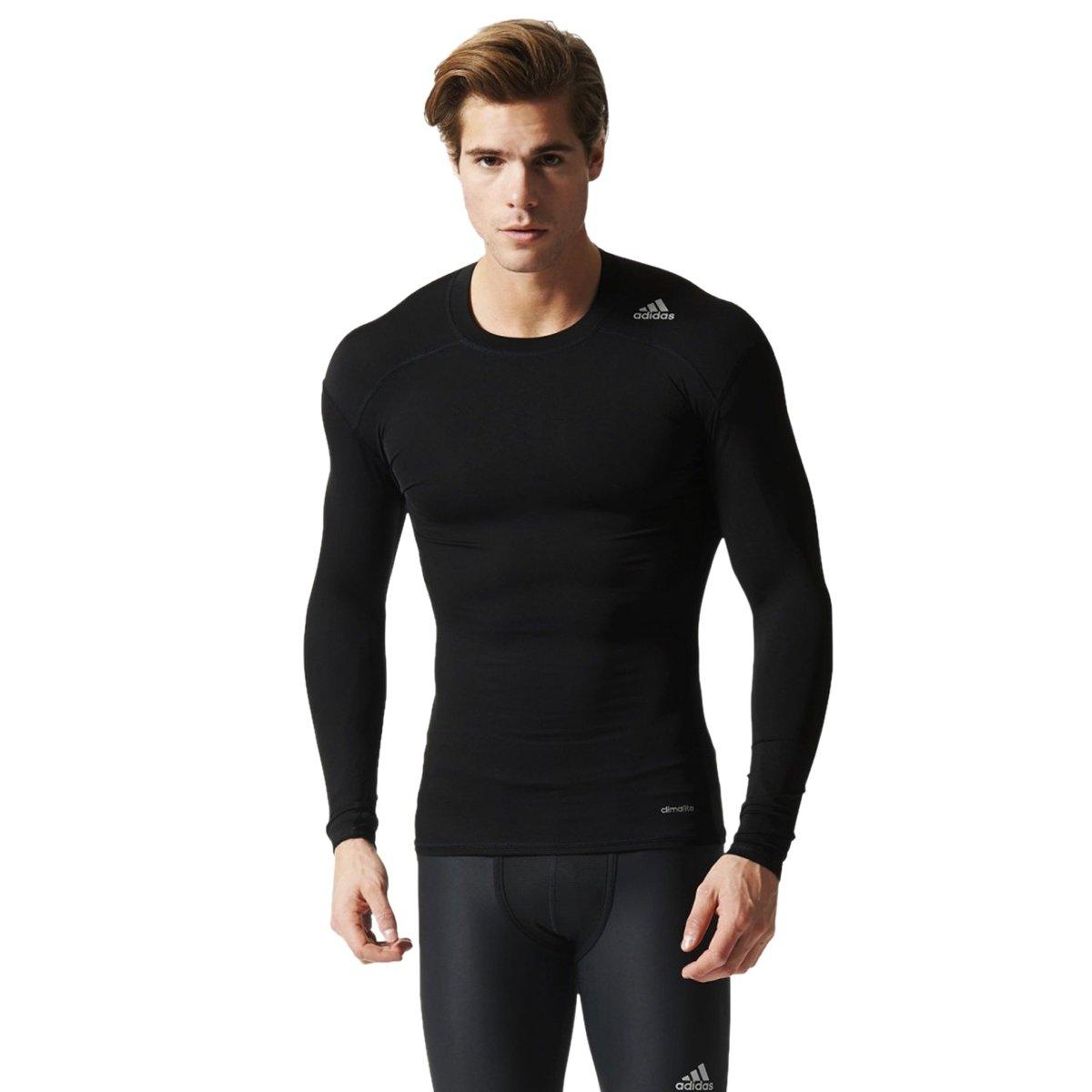 Bizz Store - Camiseta Compressão Masculina Adidas Techfit Base 4535870cdff81