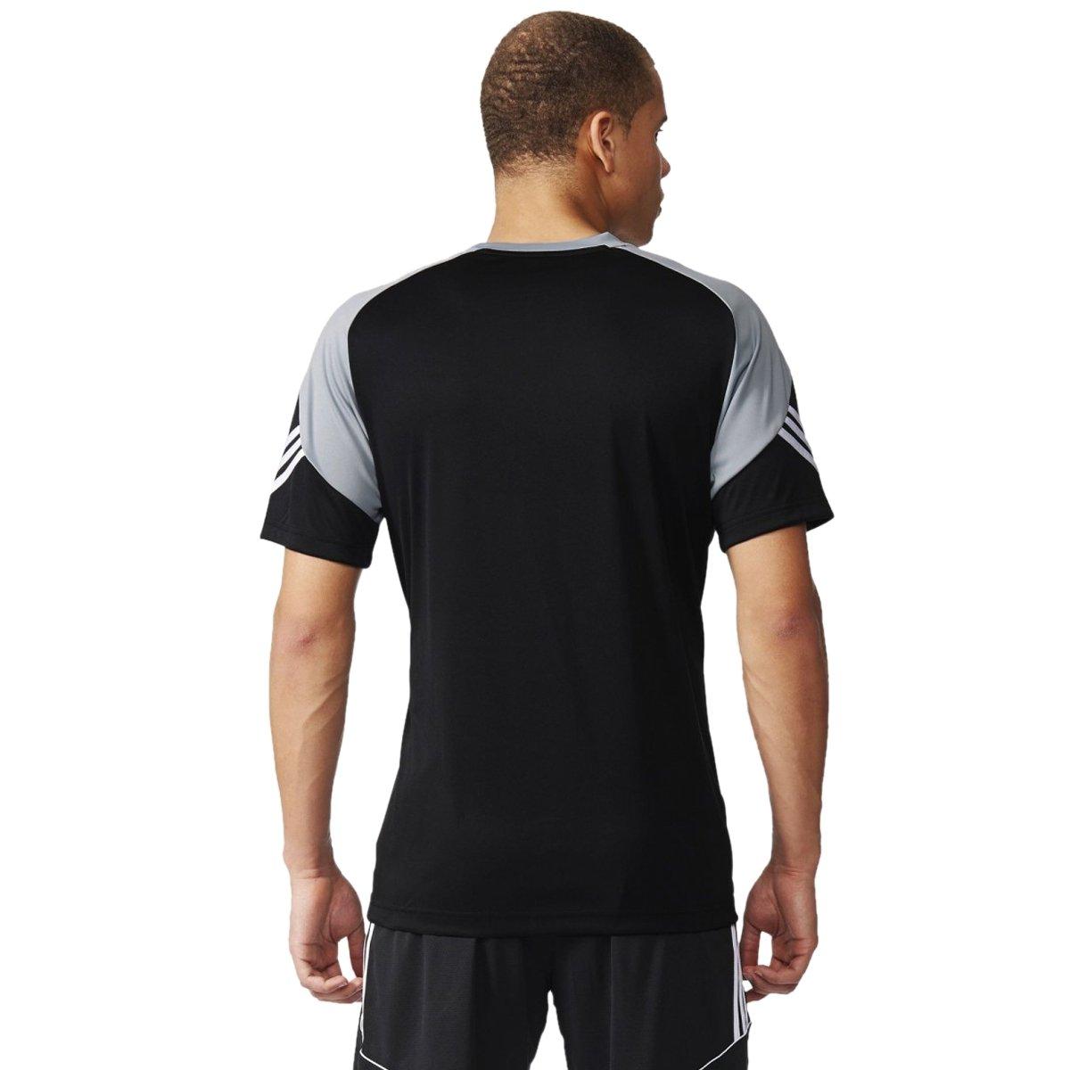 38da273667 ... 12daf94a5a6 Bizz Store - Camiseta Masculina Adidas Treino Sere 14 Preta  ...