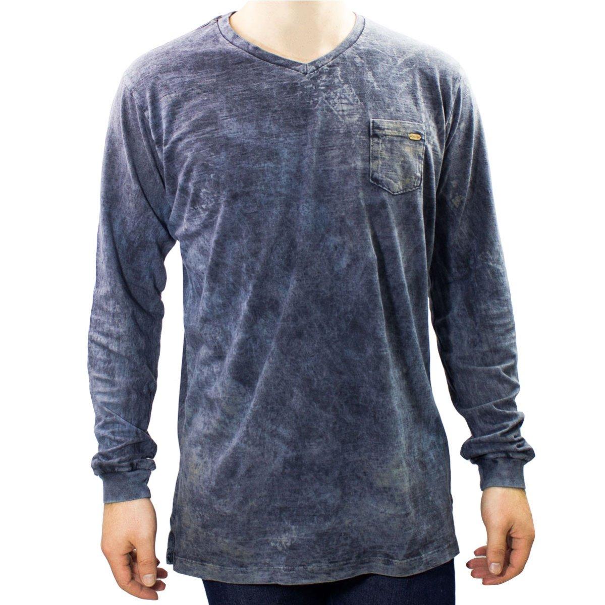 Camiseta Masculina Gola V Dixie 11 23 0001
