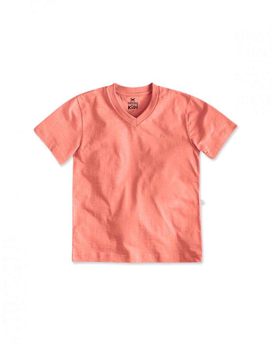 12e5cbc0fa310 Bizz Store - Camiseta Infantil Menino Gola V Hering Kids Branca