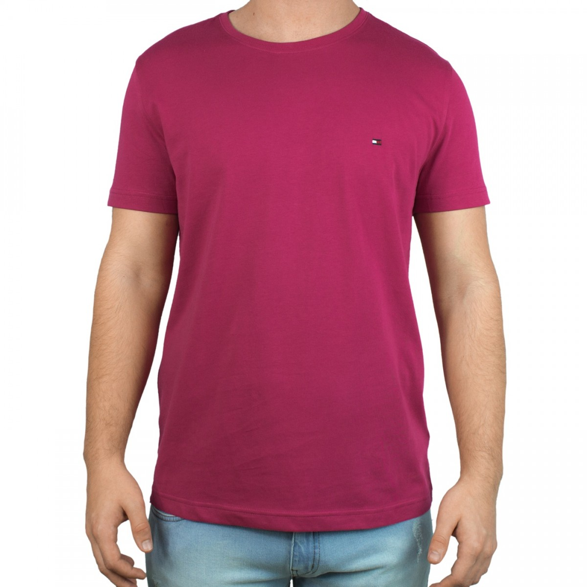 c61dba382cc66 Bizz Store - Camiseta Masculina Tommy Hilfiger Gola Redonda