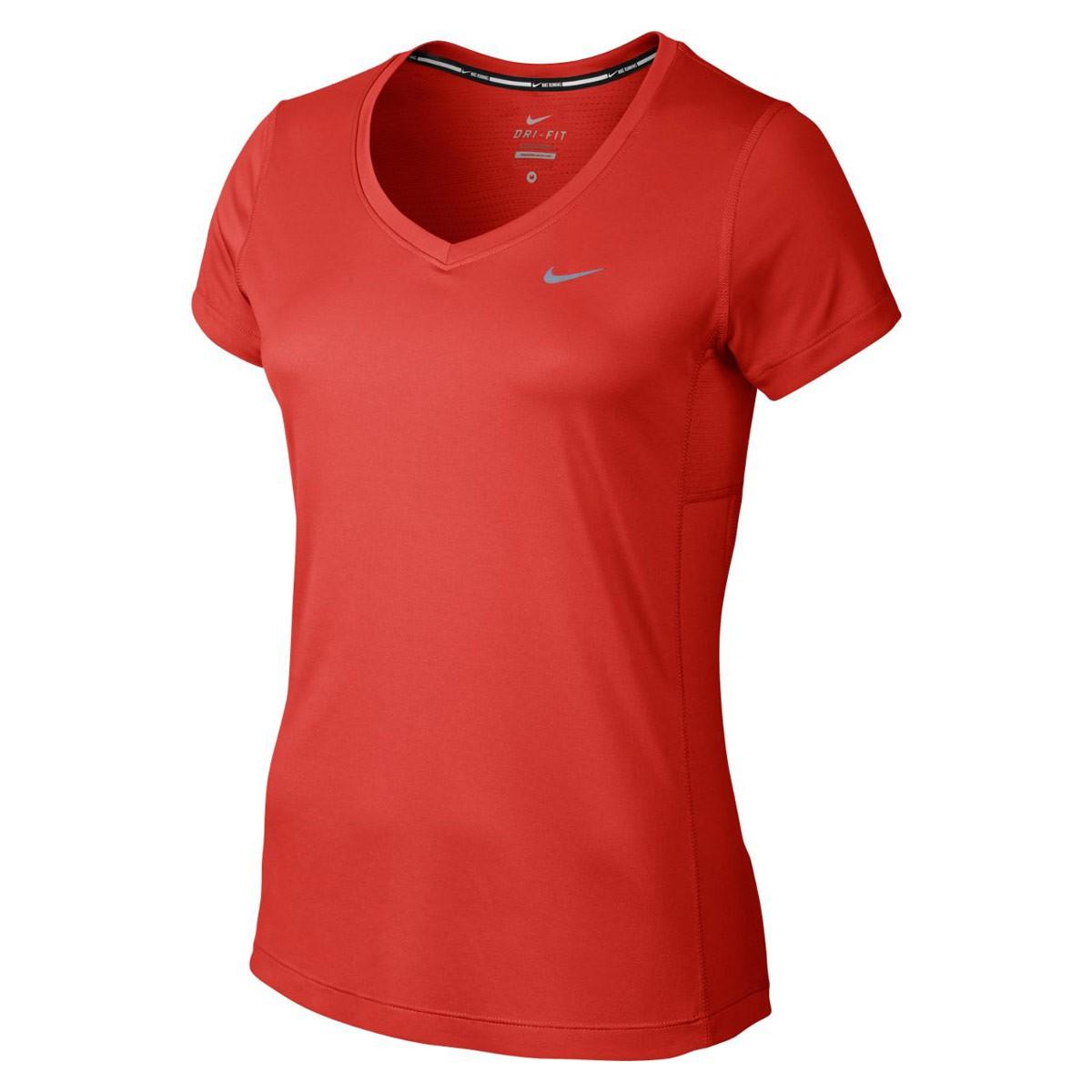 038eb65503dbd Bizz Store - Camiseta Feminina Nike Miller V-Neck Corrida Vermelha